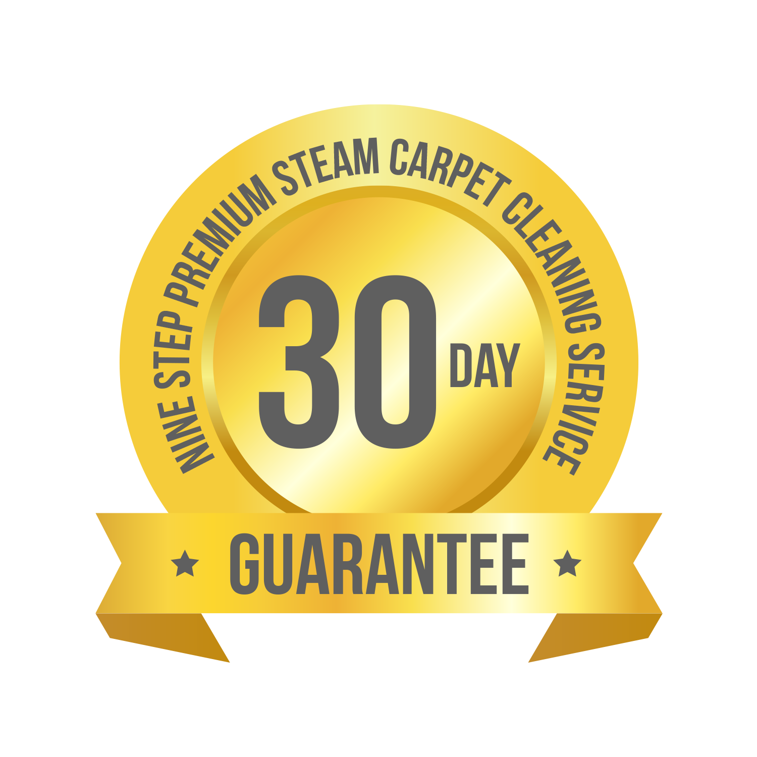 Nine Step 30 day guarantee logo