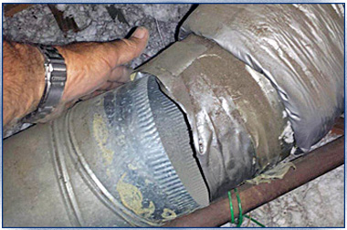 Damaged duct system