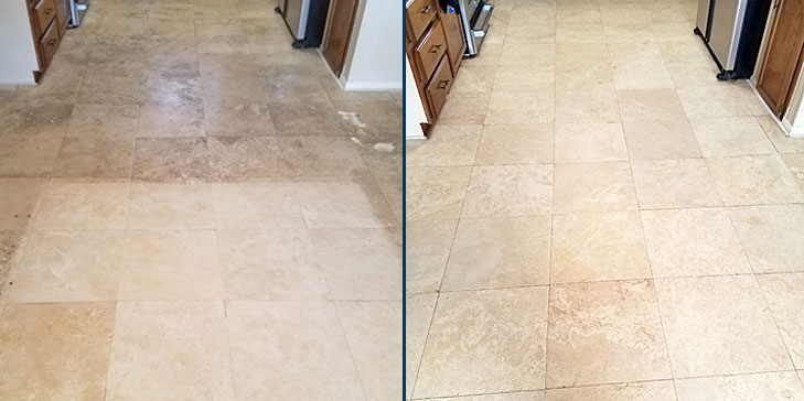 Natural stone care before after