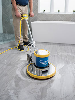 Cleaning marble floor